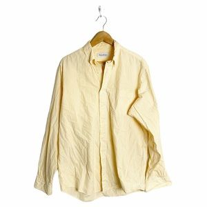 Brooks Brothers Yellow & White Striped Button Down